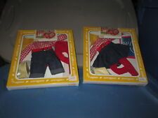 1982 Effanbee OUT WEST Bobbsey Twins Freddie & Flossie Doll Outfits in Box