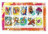 Australian Stamp Sheetlets: 2001 Rock Australia 10 x 45c Sheetlet of 10 MNH
