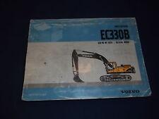 VOLVO EC330B EXCAVATOR PARTS BOOK MANUAL