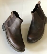 ~Caterpillar~CAT 'Thornberry' Chelsea Boots Uk9 Brown Leather ~Mint~