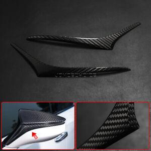 For Lexus UX ES LC LS RC F RS Real Carbon Fiber Side Rear View Mirror Strip Trim