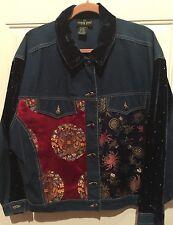 """CAROLE LITTLE Silk Velvet Draped Art-to-Wear Open Jacket Blouse Chest 53"""" NWOT"""