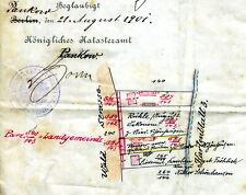 Original Katasterblatt Pankow-Niederschönhausen Waldstraße größer A4 von 1900
