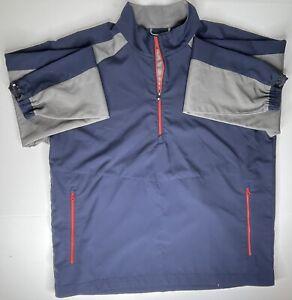 FootJoy 1/4 Zip Windbreaker Pullover Jacket Men's XL Golf Navy Red Grey