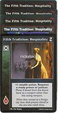 The Fifth Tradition: Hospitality x5 KoT VTES Jyhad Lot B