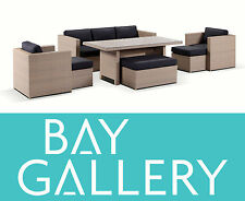 New Balinese Outdoor Wicker Lounge & Dining Suite Set Balcony Furniture Setting