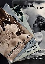 ZEISS IKON PHOTO TECHNIK 1937 _année complète : 6N° _ en allemand