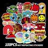 100 SKATEBOARD STICKERS Logo Santa Cruz Retro Random Old School Skate Bulk Pack