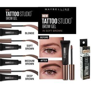 MAYBELLINE Tattoo Studio Brow Waterproof Gel 6.8ml - CHOOSE SHADE - NEW Boxed