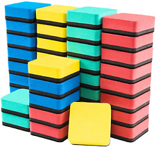 40 Pack Magnetic Whiteboard Dry Erasers Chalkboard Cleaner For Classroom Home O