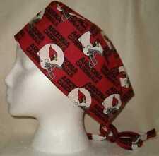 Surgical Scrub Hat Cap Made w Arizona Cardinals Nfl Fabric Nurse Chemo Er Skull