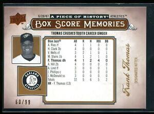 FRANK THOMAS 2008 UD PIECE OF HISTORY BOX SCORE MEMORIES COPPER #d 60/99