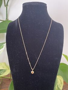 Beautiful 9ct Gold Genuine Citrine Pendant And 9ct Gold Necklace Marked Canada