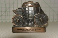 VINTAGE CAST METAL COVERED  WAGON ARKANSAS VALLEY STATE BANK