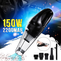 Mini USB Wet Dry Dust 150W Rechargeable 3000PA Cordless Handheld Car Home Vacuum