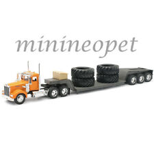 NEW RAY 10613 KENWORTH W900 LOWBOY SEMI-TRUCK WITH BIG TIRES 1/32 YELLOW