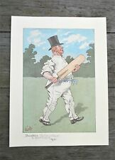 More details for vintage print dumkins cricket batsman from charles dickens the pickwick papers