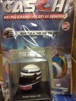 RICCARDO PATRESE 1981 (ARROWS) HELMET CASCHI  FORMULA 1 COLLECTION #60 - 1:5 MOC