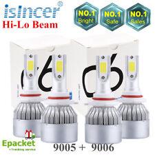 9005+9006 CREE LED Headlight Kit 2800W 198000LM Combo High Low Power Bulb 6000K