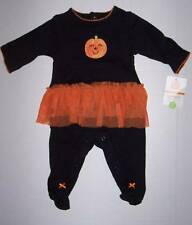 NWT Carters Halloween pumpkin tutu outfit size 3 months Free Priority shipping