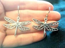 QUIRKY STEAMPUNK DRAGONFLY CHARM EARRINGS BOHO KITSCH RETRO VINTAGE FUN & FUNKY