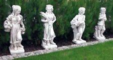 Putten 4er Set vier Jahreszeiten Gartenfiguren Kinder Statuen Steinguss 75-80cm