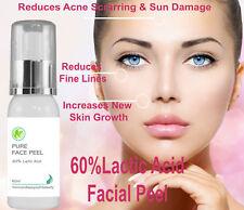 60% Professional Grade Lactic Acid Facial Peel Wrinkles Acne Age Sun Spots 60 ml