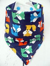 Baby Boys Bandana Dribble Bib*NEW* 🦊Cute Navy FOX* Handmade ~ Spotty Fox Bibs