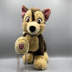 Retired Build a Bear Paw Patrol CHASE Plush Stuffed Animal BABW Toy Teddy Clean