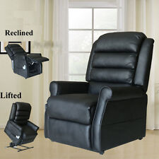 Electric Power Lift Chair Leather Heated Massage Recliner Sofa Lounge W/ Control