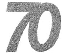 70. Geburtstag Konfetti Confetti Streudekoration Tisch DEKO