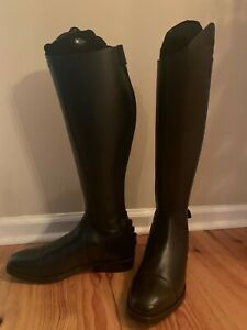 Ego7 Tall English Riding Dress Boots, Italian leather, women's 39L-1