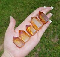 Tangerine Aura Quartz Gemstone Point Tower