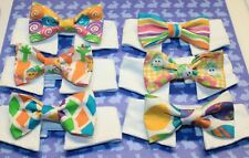 New Cat Bow Tie & Shirt Collar | Easter Styles Carrots Bunnies Pastels Free Ship