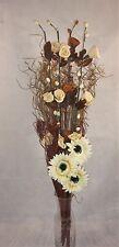 Unique Choc/Cream handmade Maize Artificial & Dried Flower Bouquet for a vase