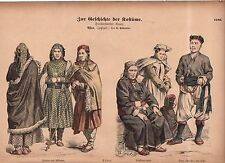 1880 Chromo Fashion print of Tibet and Himalayas - Lama with men and women