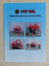 HE-VA Dänemark - Press-Roller L610 / H710 - Prospekt Brochure (0857