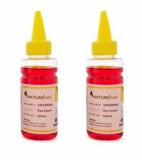 200ml Natureinks dye Universal Yellow Bottles kit to Refill empty ink cartridge