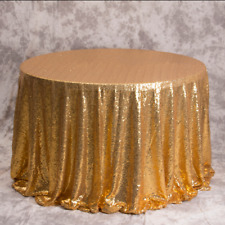 Gold Glitter Sequin Tablecloth Wedding Engagement Reception Party Decoration