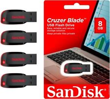 Lot of 4 Sandisk CRUZER BLADE 8GB 8G USB 2.0 Flash Drive MEMORY STICK WHOLESALE