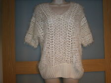M&Co womens cream v neck jumper size M