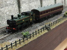 371-987 N GAUGE DCC SOUND FARISH N GAUGE PANNIER TANK WITH DAPOL AUTOCOACH