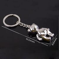 Metal Teddy Bear Shape Keychain Ring Keyring Key Fobs Funny Gift ACTPLUS