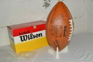 1980s Vintage GREEN BAY PACKERS Wilson TEAM SIGNED Autographed FOOTBALL w/Box