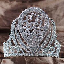"Royal Tiara Headband 5"" Crown Rhinestone Bride Beauty Pageant Prom Party Costume"