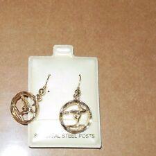 NEW Lot of 2 pair of Goldtone fishhook Gymnast Earrings Great Gift surgicalsteel
