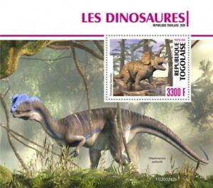 Togo - 2020 Triceratops Dinosaurs - Stamp Souvenir Sheet - TG200242b