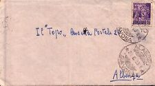 """LETTERA SCRITTA AL """"TOPO """" DI ALBENGA NEL 1945 - BORSA NERA AD ALASSIO - (C7-72)"""