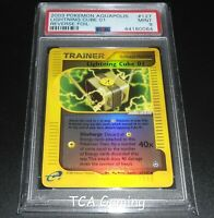 PSA 9 MINT Lightning Cube 01 127/147 Aquapolis Set REVERSE HOLO Pokemon Card