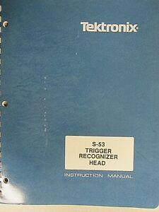 Tektronix S-53 Trigger Recognizer Head Instruction Manual 070-1147-00 Rev JUL 86